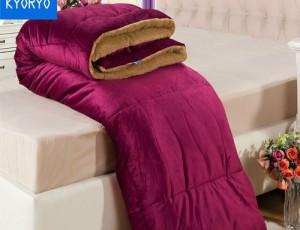 Chăn lông cừu kyoryo 2016 màu đỏ Bordeaux