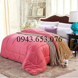 Chăn lông cừu kyoryo màu hồng