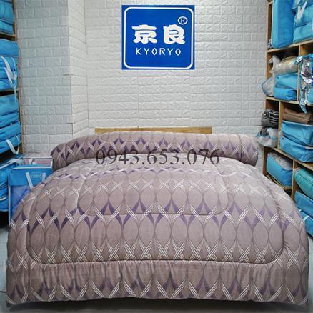 Chăn Lông Thỏ Queen Luxury Ruy Băng Tím