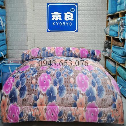 Chăn Lông Thỏ Queen Luxury Hoa Xuân
