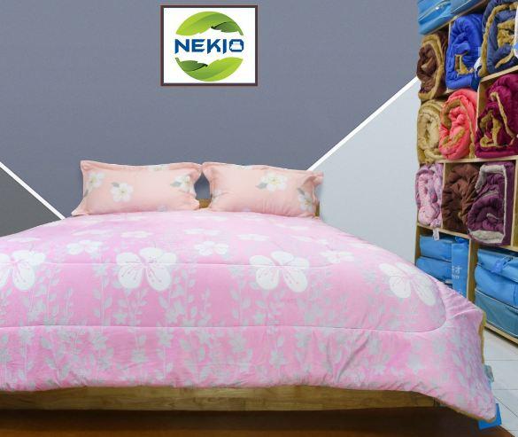 Chăn lông cừu Nekio hoa dạ thảo hồng