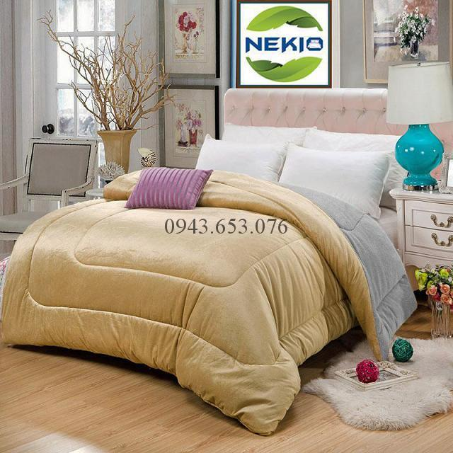 Chăn lông cừu Nekio màu vàng