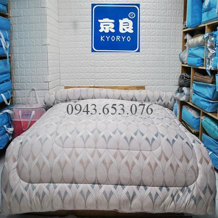 Chăn Lông Thỏ Queen Luxury Ruy Băng Xanh