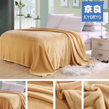 Chăn Nỉ lông Kyoryo Nhật Bản Màu nâu vàng